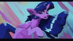 Size: 1920x1080 | Tagged: safe, artist:hierozaki, twilight sparkle, alicorn, pony, abstract background, female, mare, solo, twilight sparkle (alicorn)