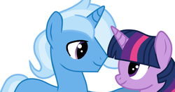 Size: 791x413 | Tagged: safe, artist:missxxfofa123, edit, trixie, twilight sparkle, pony, cropped, female, half r63 shipping, male, rule 63, shipping, straight, tristan, tristansparkle, twixie