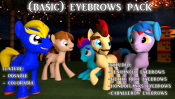 Size: 1920x1080 | Tagged: 3d, artist:sky chaser, downloadable, eyebrows, model, oc, oc:acousticbrony, oc:bronydanceparty, oc:mandopony, oc:sky chaser, oc:the living tombstone, resource, safe, source filmmaker