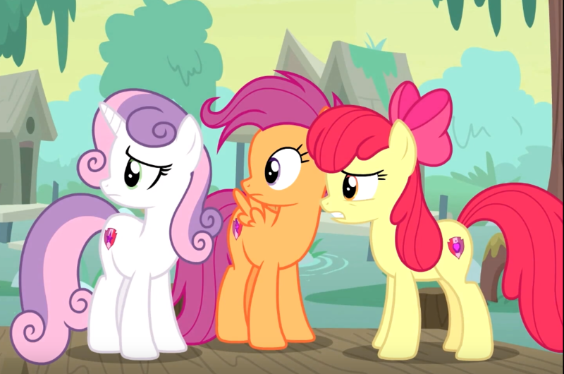 2135069 Safe Screencap Apple Bloom Scootaloo Sweetie Belle Earth Pony Pegasus Pony Unicorn Growing Up Is Hard To Do Spoiler S09e22 Bow Cropped Cutie Mark Cutie Mark Crusaders Female Hair Bow Mare She gives an annoyed groan] big macintosh! safe screencap apple bloom scootaloo