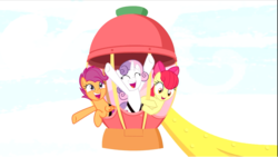 Size: 1375x774 | Tagged: apple bloom, cropped, cutie mark crusaders, excited, ferris wheel, growing up is hard to do, happy, hooves in air, older, older apple bloom, older cmc, older scootaloo, older sweetie belle, open mouth, safe, scootaloo, screencap, seatbelt, spoiler:s09e22, sweetie belle, trio
