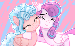 Size: 1322x825 | Tagged: a better ending for cozy, alicorn, artist:lilith1light, cozybetes, cozy glow, cozyheart, cute, daaaaaaaaaaaw, eyes closed, female, filly, flurrybetes, good end, hug, lesbian, mare, older, older cozy glow, older flurry heart, pegasus, pony, princess flurry heart, safe, shipping