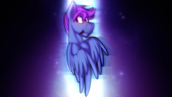 Size: 4000x2250 | Tagged: safe, artist:dripponi, artist:lattynskit, edit, oc, oc only, oc:windy dripper, pegasus, pony, abstract background, blushing, chest fluff, chromatic aberration, cute, floppy ears, galaxy, looking back, male, malesub, pegasus oc, photoshop, solo, space, stallion, stars, submissive, tablet pen, wallpaper, wing fluff, wings
