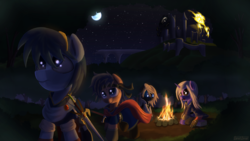 Size: 3840x2160   Tagged: safe, artist:sweetbrew, pony, barely pony related, corrin, crossover, evershade forest, fire emblem, ike, kamui (fire emblem), marth, nintendo, robin