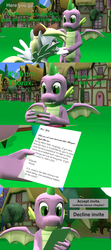 Size: 1920x4320 | Tagged: 3d, artist:papadragon69, choice, choose your own adventure, comic, comic:spike's cyosa, derpy hooves, dragon, female, implied pharynx, implied thorax, letter, mailmare, male, older, older spike, safe, source filmmaker, spike, teenager, teenage spike, winged spike