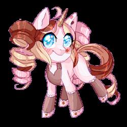 Size: 300x300 | Tagged: safe, artist:yamikonek0, pony, unicorn, commission, cute, pixel art