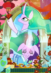 Size: 775x1100 | Tagged: artist:pixelkitties, eyes closed, flower, mistmane, mistmane's flower, safe