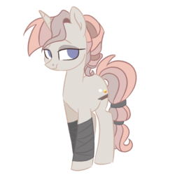 Size: 1280x1280 | Tagged: artist:herfaithfulstudent, leg wrapping, oc, oc only, oc:skyewalker, pony, safe, simple background, solo, transparent background, unicorn