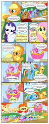 Size: 612x1552 | Tagged: applejack, artist:newbiespud, background pony, background pony audience, banner, berry punch, berryshine, bipedal, bon bon, bound wings, carrot top, comic, comic:friendship is dragons, dialogue, diamond mint, dragon, earth pony, edited screencap, eyes closed, face down ass up, fall weather friends, female, fluttershy, fountain, freckles, golden harvest, grin, hat, hot air balloon, linky, looking up, lyra heartstrings, male, mane seven, mane six, mare, megaphone, multeity, pegasus, pinkie pie, pony, rainbow dash, raised hoof, rarity, rope, running, running of the leaves, safe, screencap, screencap comic, shoeshine, smiling, spike, sweetie drops, twilight sparkle, unicorn, unicorn twilight, wings