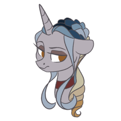 Size: 1280x1280 | Tagged: artist:herfaithfulstudent, bust, collar, oc, oc:lannister, oc only, pony, safe, simple background, solo, transparent background, unicorn