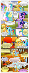 Size: 612x1553 | Tagged: alicorn, applejack, artist:newbiespud, background pony, big crown thingy, bon bon, comic, comic:friendship is dragons, dialogue, earth pony, edit, edited screencap, fall weather friends, female, freckles, hat, hoof shoes, injured, jewelry, leaves, male, mare, messy mane, pegasus, pony, princess celestia, rainbow dash, raised hoof, regalia, running, running of the leaves, safe, screencap, screencap comic, stallion, sweetie drops, twilight sparkle, unicorn, unicorn twilight