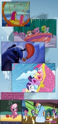 Size: 800x1700 | Tagged: safe, artist:newbiespud, artist:zamuelnow, edit, edited screencap, screencap, applejack, bon bon (g1), cheerilee, fluttershy, patch (g1), pinkie pie, pinkie pie (g3), rainbow dash, rainbow dash (g3), rarity, spike, starsong, toola roola, twilight sparkle, dragon, earth pony, pegasus, pony, unicorn, comic:friendship is dragons, a very minty christmas, g1, g3, g3.5, my little pony tales, twinkle wish adventure, up up and away (episode), background pony, candle, chalkboard, collaboration, comic, cup, dialogue, element of generosity, element of loyalty, element of magic, eyes closed, falling, female, frown, grin, hot air balloon, looking up, male, mane seven, mane six, mare, rope, sad, scared, screencap comic, smiling, unicorn twilight