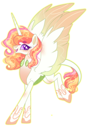 Size: 2103x3024 | Tagged: safe, artist:kurosawakuro, oc, oc only, alicorn, changepony, hybrid, base used, colored sclera, female, interspecies offspring, mare, offspring, parent:princess celestia, parent:thorax, parents:thoralestia, simple background, solo, spread wings, transparent background, wings