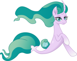 Size: 1500x1196 | Tagged: artist:cloudyglow, female, mistmane, safe, seaponified, seapony (g4), seapony mistmane, simple background, solo, species swap, transparent background