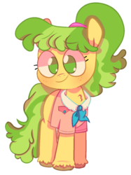 Size: 500x669 | Tagged: safe, artist:pinkiespresent, chickadee, ms. peachbottom, earth pony, pony, games ponies play, chest fluff, cute, female, mare, no pupils, peachabetes, simple background, solo, transparent background, unshorn fetlocks