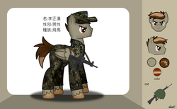 Size: 1465x900 | Tagged: ar15, artist:99999999000, assault rifle, camouflage, chinese, clothes, gun, male, oc, oc:li zhenghan, reference sheet, rifle, safe, soldier, solo, t-91, taiwan, weapon