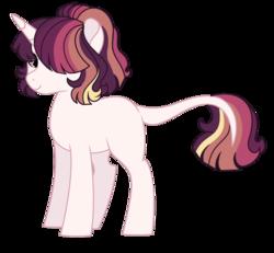 Size: 1280x1181 | Tagged: safe, artist:rosebuddity, oc, pony, unicorn, female, magical lesbian spawn, mare, offspring, parent:princess celestia, parent:sunset shimmer, parents:sunsestia, simple background, solo, transparent background