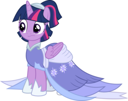 Size: 7585x5967   Tagged: safe, artist:digimonlover101, twilight sparkle, alicorn, pony, the last problem, absurd resolution, alternate hairstyle, clothes, coronation dress, dress, female, gown, mare, second coronation dress, simple background, solo, transparent background, twilight sparkle (alicorn), vector