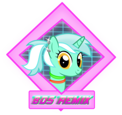 Size: 1711x1613   Tagged: safe, artist:anime-equestria, derpibooru exclusive, lyra heartstrings, unicorn, 80s, avatar, bands, ear piercing, female, glow, glow band, glowstick, icon, looking at you, mare, piercing, ponytail, simple background, smiling, solo, text, transparent background, vector