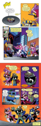 Size: 650x2000 | Tagged: angry, background pony, chains, clothes, comic, comic:friendship is dragons, costume, crying, cuffs, cuffs (clothes), dialogue, edit, female, fili-second, flying, humdrum, humdrum (pony), idw, implied rainbow dash, implied twilight sparkle, male, mane-iac, mare, mask, masked matter-horn, mistress marevelous, pharaoh phetlock, police, pony, pose, power ponies, radiance, raised hoof, saddle rager, safe, scared, spoiler:comic, spoiler:comicannual2014, stallion, text edit, zapp