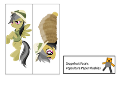Size: 1250x938 | Tagged: artist:the smiling pony, artist:timelordomega, arts and crafts, bondage, daring daki, daring do, editor:grapefruitface, paper dakimakura, paper plush, pegasus, pony, printable, safe, stranger than fan fiction