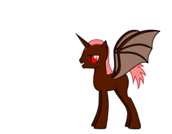 Size: 3320x2600 | Tagged: safe, artist:robobrony, oc, oc:blood thorn, alicorn, bat pony, bat pony alicorn, pony, alicorn oc, bat pony oc, evil, male, pink mane, pink tail, red and black oc, red eyes, slit pupils, stallion