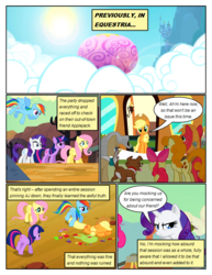 Size: 612x792 | Tagged: annoyed, apple bloom, applejack, artist:newbiespud, background pony, big macintosh, bow, cactus, cloud, comic, comic:friendship is dragons, desert, dialogue, dog, earth pony, edited screencap, female, filly, fluttershy, flying, freckles, hair bow, hat, hot air balloon, injured, male, mane six, mare, mayor mare, medal, messy mane, pegasus, pinkie pie, pony, rainbow dash, rarity, sad, saddle bag, safe, screencap, screencap comic, smiling, stallion, sun, the last roundup, twilight sparkle, unicorn, unicorn twilight, winona, yoke