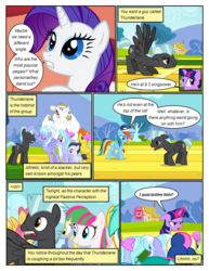 Size: 612x792 | Tagged: artist:newbiespud, background pony, background pony audience, baseball cap, blossomforth, bon bon, bow, bulk biceps, cap, cloudchaser, colt, comic, comic:friendship is dragons, derpy hooves, dialogue, dizzy twister, earth pony, edited screencap, eyes closed, face down ass up, female, flexing, flitter, glowing horn, grin, hair bow, hat, horn, hurricane fluttershy, magic, male, mare, merry may, orange swirl, pegasus, petting, pony, rainbow dash, rarity, rumble, safe, screencap, screencap comic, smiling, spring melody, sprinkle medley, stallion, sunshower raindrops, suspicious, sweat, sweetie drops, telekinesis, thunderlane, tired, twilight sparkle, unicorn, unicorn twilight, unshorn fetlocks, warm front, whistle