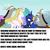 Size: 1364x1360   Tagged: safe, edit, edited screencap, screencap, discord, princess celestia, princess luna, alicorn, draconequus, pony, the ending of the end, leak, cropped, discord drama, impact font, meme, op has a point, self paradox