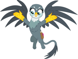 Size: 3671x2768 | Tagged: safe, artist:frownfactory, gabby, griffon, dragon dropped, spoiler:s09e19, .svg available, female, flying, mail, mailbag, simple background, solo, svg, transparent background, vector, wings