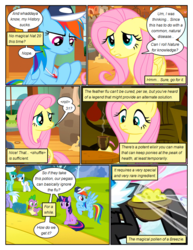 Size: 612x792 | Tagged: safe, artist:newbiespud, edit, edited screencap, screencap, cloudchaser, fluttershy, lightning bolt, rainbow dash, seabreeze, spike, spring melody, sprinkle medley, twilight sparkle, white lightning, breezie, dragon, pegasus, pony, unicorn, comic:friendship is dragons, background pony, baseball cap, cap, comic, cup, dialogue, female, flying, food, hat, looking back, male, mare, notepad, quill, saddle bag, screencap comic, sitting, slit eyes, tea, unicorn twilight, whistle, worried