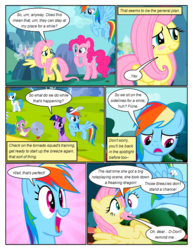 Size: 612x792 | Tagged: safe, artist:newbiespud, edit, edited screencap, screencap, pinkie pie, rainbow dash, spike, twilight sparkle, breezie, dragon, earth pony, pegasus, pony, unicorn, comic:friendship is dragons, anemometer, baseball cap, blushing, cap, comic, dialogue, excited, female, flying, frown, hat, male, mare, mushroom hat, nervous, notepad, one wing out, quill, raised hoof, screencap comic, smiling, unicorn twilight, wings