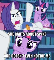 Size: 600x676 | Tagged: alicorn, angry, close-up, curious, discovery family logo, dragon dropped, duo, edit, edited screencap, fainting couch, female, furrowed brow, gesture, hoof on chin, implied lesbian, implied rarilight, implied shipping, mare, messy mane, open mouth, pillow, pony, rarity, safe, screencap, sitting, spoiler:s09e19, thinking, twilight sparkle, twilight sparkle (alicorn), unicorn, unrequited, zoom in