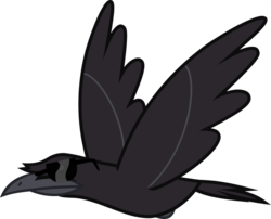 Size: 545x441 | Tagged: safe, artist:lightningbolt, derpibooru exclusive, bird, crow, derpibooru, .svg available, cool crow, derpibooru badge, flying, meta, simple background, sunglasses, svg, transparent background, vector, wings