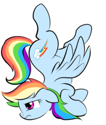 Size: 821x973 | Tagged: artist:pinkamenaspy, cute, dashabetes, face down ass up, pegasus, pony, profile, rainbow dash, safe, simple background, solo, transparent background