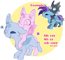 Size: 5172x4788 | Tagged: safe, artist:cutepencilcase, oc, pegasus, pony, commission, cute, ear bite, one eye closed, smiling, your character here