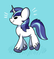 Size: 914x1006 | Tagged: safe, artist:typhwosion, shining armor, pony, unicorn, beady eyes, blue background, cute, male, profile, shining adorable, simple background, solo, stallion