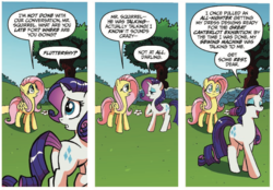 Size: 1080x750 | Tagged: safe, artist:tonyfleecs, idw, fluttershy, rarity, pegasus, pony, unicorn, friends forever, spoiler:comic, spoiler:comicff5, comic, duo, female, mare, official comic, speech bubble