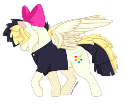 Size: 1024x861 | Tagged: artist:shadow-at-nightfall, cutie mark, my little pony: the movie, pegasus, profile, safe, signature, simple background, smiling, solo, songbird serenade, spread wings, transparent background, wings