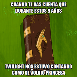 Size: 650x650 | Tagged: book, caption, friendship is magic, image macro, implied twilight sparkle, meme, safe, spanish, spanish text, text