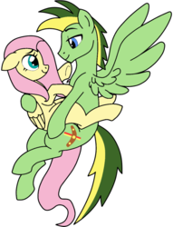 Size: 782x1022 | Tagged: artist:didgereethebrony, base used, cutie mark, flutterdidge, fluttershy, flying, oc, oc:didgeree, pegasus, pony, safe, shipping, simple background, transparent background