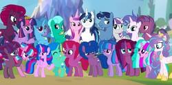 Size: 1920x946 | Tagged: safe, artist:velveagicsentryyt, artist:徐詩珮, edit, fizzlepop berrytwist, glitter drops, night light, princess cadance, princess flurry heart, shining armor, spring rain, tempest shadow, twilight sparkle, twilight velvet, oc, oc:aurora (tempest's mother), oc:betty pop, oc:bubble sparkle, oc:eany sparkle, oc:fire shadow, oc:sparkle rain, oc:spring legrt, oc:storm lightning, oc:transparent (tempest's father), oc:twilight star, oc:vesty sparkle, alicorn, pony, unicorn, broken horn, brother and sister, cousins, crown, family, father and daughter, father and son, female, glitterlight, glittershadow, grandfather and grandchild, grandmother and grandchild, grandparents, half-siblings, horn, jewelry, lesbian, like father like daughter, like father like son, like mother like daughter, like mother like son, like parent like child, magical lesbian spawn, male, mare, mother and daughter, mother and son, multiple parents, next generation, nightvelvet, offspring, older, older flurry heart, parent:flash sentry, parent:glitter drops, parent:spring rain, parent:stygian, parent:tempest shadow, parent:twilight sparkle, parents:flashlight, parents:glitterlight, parents:glittershadow, parents:sprglitemplight, parents:springdrops, parents:springlight, parents:springshadow, parents:springshadowdrops, parents:tempestlight, parents:tempgian, polyamory, regalia, shiningcadance, shipping, siblings, sisters, sparkle family, sprglitemplight, springdrops, springlight, springshadow, springshadowdrops, straight, tempestlight, twilight sparkle (alicorn), twilight's castle