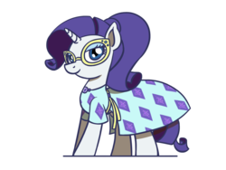 Size: 1280x960 | Tagged: safe, artist:flutterluv, rarity, pony, unicorn, equestria girls, equestria girls series, spring breakdown, spoiler:eqg series (season 2), clothes, cute, dress, equestria girls ponified, glasses, ponified, raribetes, solo