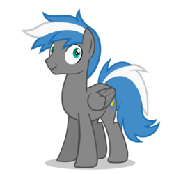 Size: 894x894 | Tagged: artist:oblivionfall, male, oc, oc:cloud zapper, oc only, pegasus, pony, safe, silly, silly face, silly pony, solo, stallion