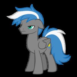 Size: 894x894 | Tagged: safe, artist:oblivionfall, oc, oc only, oc:cloud zapper, pegasus, pony, male, sleepy eyes, solo, stallion, tired