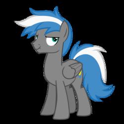 Size: 894x894 | Tagged: safe, artist:oblivionfall, oc, oc only, oc:cloud zapper, pegasus, pony, grumpy, male, solo, stallion