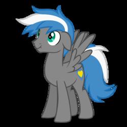Size: 894x894 | Tagged: safe, artist:oblivionfall, oc, oc:cloud zapper, pegasus, pony, male, solo, stallion