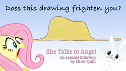 Size: 1280x720 | Tagged: safe, angel bunny, antoine, fluttershy, pony, snake, she talks to angel, eaten alive, episode followup, predation, text, the little prince, vore
