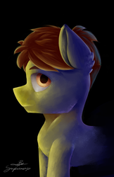 Size: 3300x5100 | Tagged: artist:supermoix, cute, dark, digital art, earth pony, male, oc, pony, safe, solo