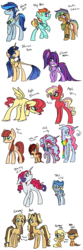 Size: 2000x6000 | Tagged: adopted offspring, alicorn, alicorn oc, artist:fallen--fate, beard, bowtie, clothes, compass, earth pony, ethereal mane, facial hair, female, freckles, glasses, goggles, half-siblings, male, mare, neckerchief, next generation, oc, oc:apple, oc:apple blossom, oc:apple oak, oc:apple spice, oc:blooming stitch, oc:bubble gum, oc:caramel jr., oc:cloud candy, oc:clouded moon, oc:coffee cream caramel, oc only, oc:sky blast, oc:starset sun, oc:storm drift, oc:sugar pie, oc:sugar rocks, oc:swift evasion, oc:time lord, offspring, parent:applejack, parent:big macintosh, parent:caramel, parent:cheese sandwich, parent:flash sentry, parent:fluttershy, parent:pinkie pie, parent:pokey pierce, parent:quibble pants, parent:rainbow dash, parent:rarity, parents:carajack, parents:cheesepie, parents:flashlight, parents:fluttermac, parent:soarin', parents:pokeypie, parents:quibbledash, parents:soarindash, parents:zephdash, parent:twilight sparkle, parent:unknown, parent:zephyr breeze, pegasus, pony, ribbon, safe, scarf, simple background, stallion, starry mane, tongue out, transparent background, unicorn, unshorn fetlocks